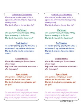 Notice and Note (Sign Posts) Bookmarks
