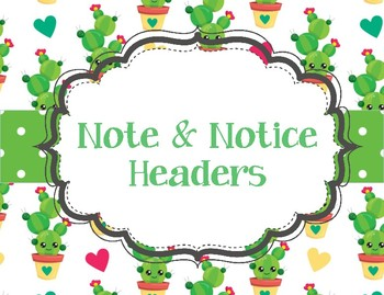 Notice and Note Cactus theme signposts
