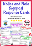 Notice and Note Classroom Signpost Response Cards (Fiction)