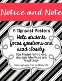 Notice and Note Close Reading Posters