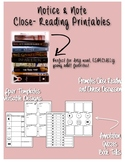 Notice and Note Close Reading Printables