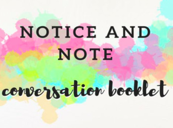Notice and Note Conversation Booklet