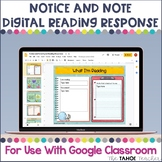 Notice and Note Digital Reading Responses for Use With Goo