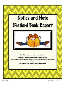 Notice and Note Close Reading (Fiction) Book Report