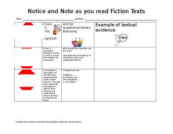 Notice and Note Fiction Signposts