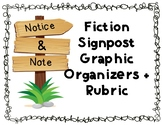 Notice and Note Fiction Signposts Graphic Organizers + Rubric