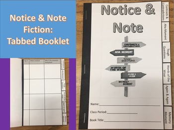 Notice and Note Fiction Tabbed Booklet