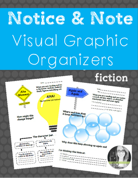 Notice and Note Fiction Visual Graphic Organizers