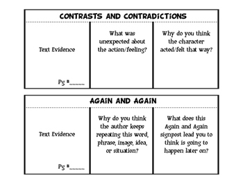 Notice and Note Foldables