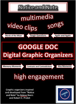 Notice and Note Google Doc Graphic Organizers