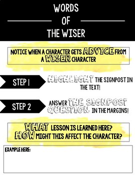 Notice and Note Literature Signpost DIGITAL Anchor Chart