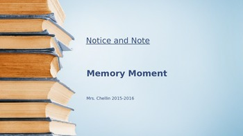 Notice and Note Memory Moment