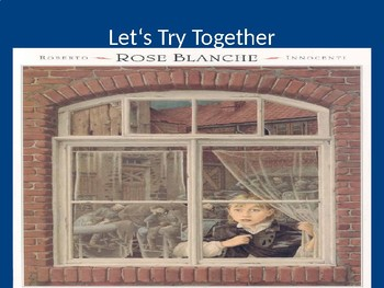 Notice and Note Mini- Lesson with mentor text Rose Blanche