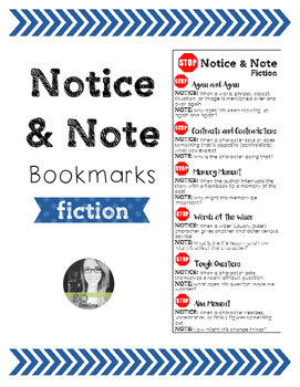 Notice and Note FICTION Bookmark