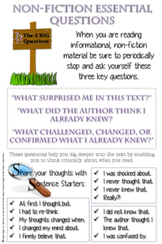 Notice and Note Non-Fiction Anchor Charts