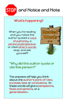 Notice and Note Nonfiction Posters