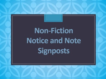 Notice and Note Nonfiction Powerpoint