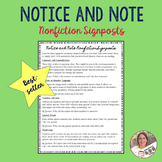 Notice and Note Nonfiction Signposts- Reading Strategies-