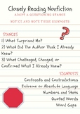 Notice and Note- Nonfiction Signposts to Post in Your Room