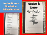 Notice and Note Nonfiction Tabbed Booklet