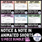 Notice and Note - Pixar Animated BUNDLE   Distance Learning/ Google Classroom