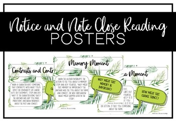 Notice and Note Posters (Tropical Theme)