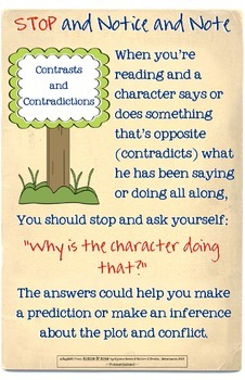 Notice and Note Close Reading Anchor Charts
