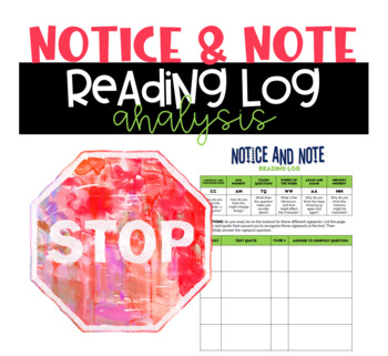 Notice and Note Reading Log