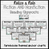 Notice and Note Reading Signposts Anchor Chart BUNDLE Fict