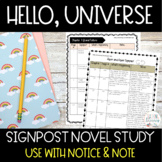 Hello, Universe Novel Study Notice and Note Signposts