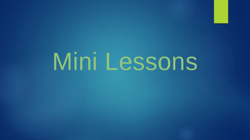 Notice and Note Signpost Mini Lessons