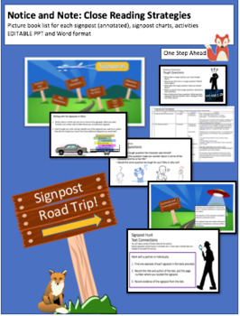 Notice and Note - Signpost Picture Book Lists, PPT and Activities