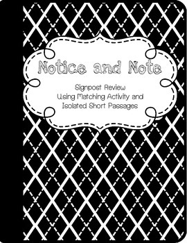 Notice and Note - Signpost Practice in Isolation