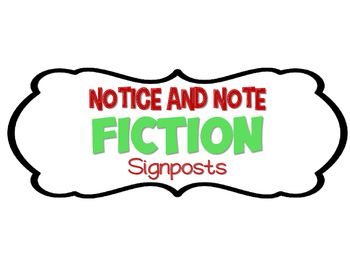 Notice and Note Signpost Signs Title