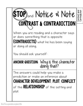 Notice and Note Signpost Tabbed Booklet - Fiction - Interactive Notebooks