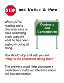 Notice and Note Signposts Anchor Chart for Readers Notebook