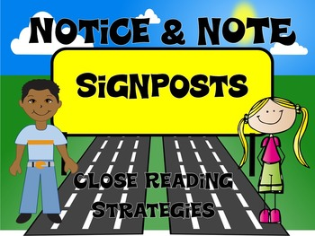 Notice and Note Signposts Close Reading Strategies PowerPoint Presentation