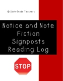 Notice and Note Signposts Fiction Reading Log
