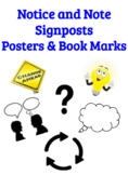 Notice and Note Signposts Novel Book Marks and Anchor Charts