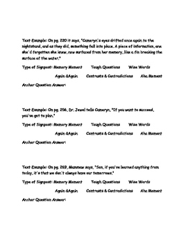 Notice and Note Signposts Used in Forensic Mystery The Christopher Killer