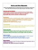 Notice and Note Signposts (Fiction) student anchor sheet