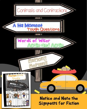 Notice and Note Signposts for Fiction-Interactive Reading Notebook