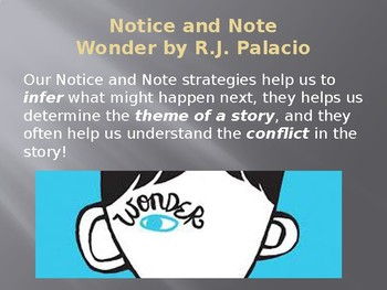 Notice and Note/Theme/Inference/Conflict  Mini Lesson/Wonder