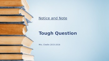 Notice and Note Tough Question