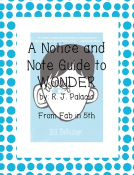 Notice and Note: Wonder