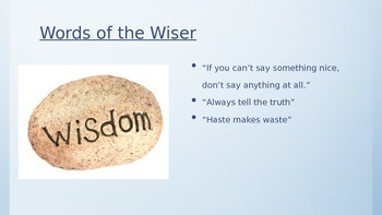 Notice and Note Words of the Wiser