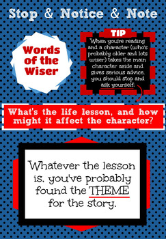 Notice and Note: Words of the Wiser Poster
