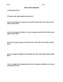 Notice and Note signposts worksheet