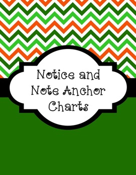 Notice and Notes Anchor Charts