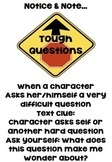 Notice and Notes Tough Questions Anchor Chart